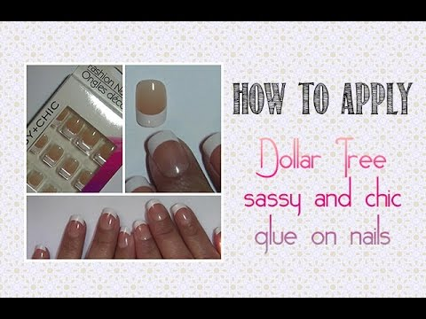 How To:  Dollar Tree Sassy & Chic Nails | Demo Application | PrettyThingsRock