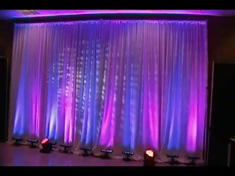 LED Up Lighting For Weddings Color Changing And Waterfall