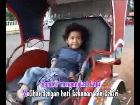 Becak - Lagu Anak-anak Indonesia Karya Ibu Sud.flv video
