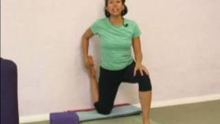 Advanced Yoga Poses : Wall Support for Yoga Thigh Stretch