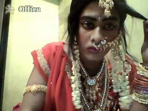 Indian cross dresser  video.......