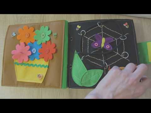 Развивающая книга для детей до года своими руками