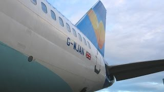 G-WJAN, Thomas Cook 757-200 tour at the Manchester Airport hangar