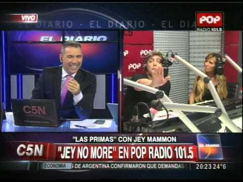 C5N - DUPLEX ENTRE EL DIARIO Y JEY NO MORE EN RADIO POP 101.5