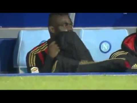 Mario Balotelli Crying on the bench after defeat vs Napoli 2014