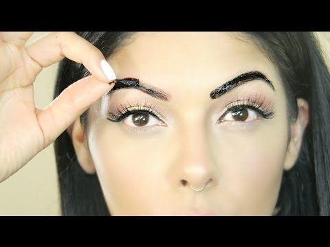 Peel Off Brow Tattoo   Does it work??   SCCASTANEDA