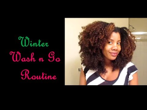 [51] Natural Hair: Updated Wash n Go Routine During the Winter 2013