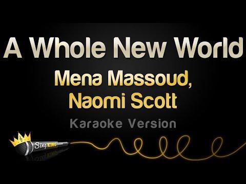 Mena Massoud, Naomi Scott  - A Whole New World (Karaoke Version)