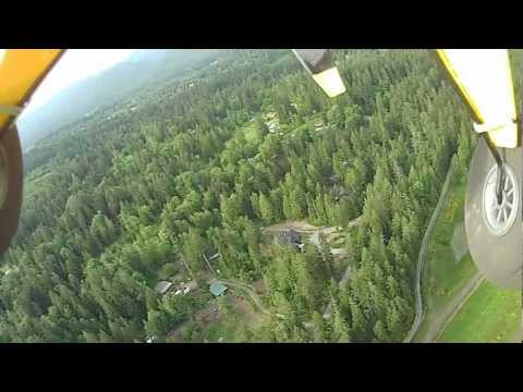 Flight #13 With A Super Cub  xxx At Sunsett With Mt Rainier As The Back Drop 009 video
