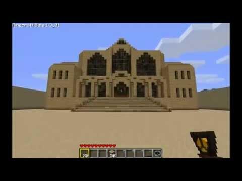 Minecraft красивые дома из песка