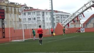 Gültepespor-MahmutŞevketPaşa Süper Amatör Playoof karşılaşması penaltı atışları