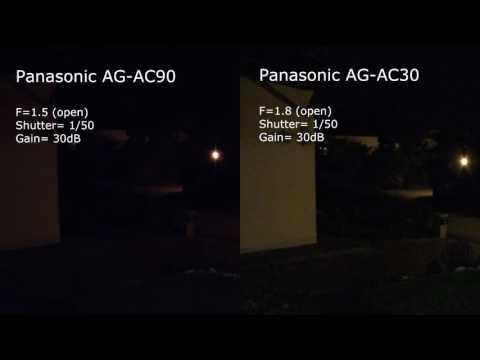 Low Light Comparison Panasonic Ag Ac90 Vs Ag Ac30