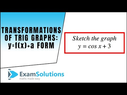 Transformations of Trig. Graphs y=f(x)+a type: ExamSolutions