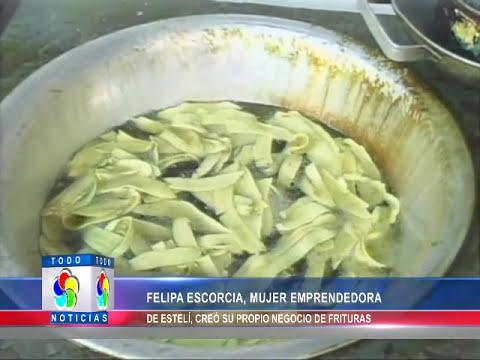 FELIPA ESCORCIA, MUJER EMPRENDEDORA DE ESTELÍ, CREÓ SU PROPIO NEGOCIO DE FRITURAS