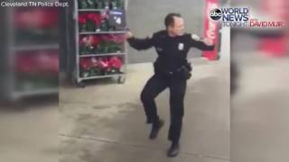 Cop Dances for Donations for The Salvation Army USA's Red Kettle Drive