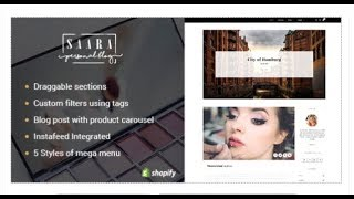 Saara - Creative Blog & Products Shopify Theme | Themeforest Templates