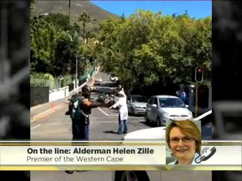 Western Cape Premier - Helen Zille Directs Traffic