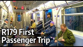 ⁴ᴷ Riding the First Passenger Service Trip of the New R179 Subway Cars