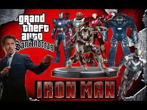 GTA San Andreas - Skin Selector + Skins de Iron Man + Regalo para mis suscriptor