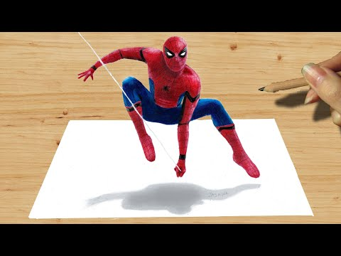 3D Pencil Drawing: Spider-Man NEW COSTUME in Captain America: Civil War Speed Draw | How to Draw