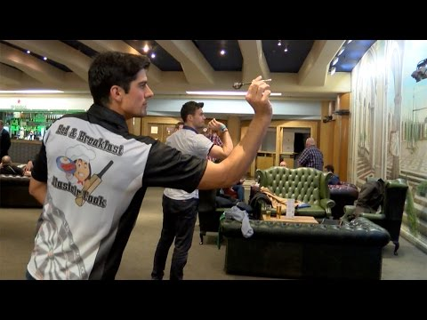 Behind the scenes - Alastair Cook v James Anderson - cricket meets darts