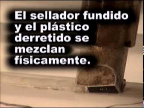 Reparar grieta deposito plastico