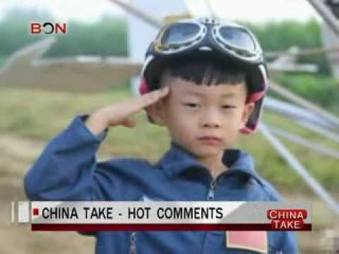 Eagle father forces son to fly  - China Take - Sep 03,2013 - BONTV China