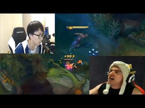 200 IQ Maokai on imaqtpie's stream | Angry Cowsep Master Yi | Doublelift gets outplayed | Jukes