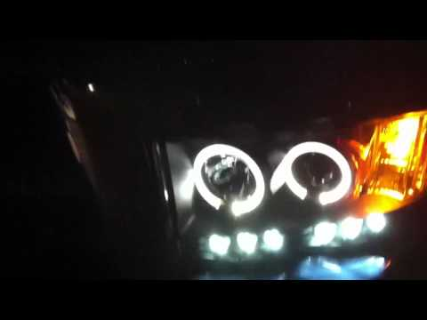 2005 Dodge Ram Halo + LED projector Headlights