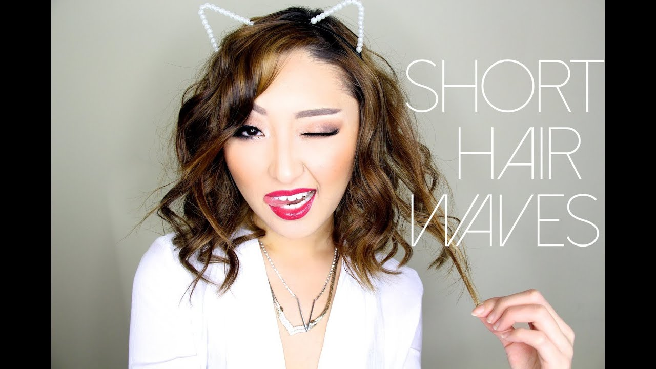 Hairstyle How To : HOW TO: SHORT HAIR WAVES - YouTube