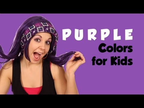 Purple, Colors for Kids ~ Tea Time with Tayla!