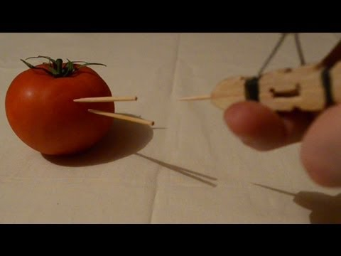 How to make a mini peg gun - toothpick shooter - Tutorial