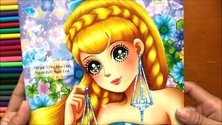 Đồ chơi bé gái TÔ MÀU CÔNG CHÚA CUNG HOÀNG ĐẠO - Coloring Princess Toys for Kids Chim Xinh tô màu