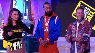 Ludacris & Nipsey Hussle Attempt To Save A Fan's Phone In Dropped Call | MTV News