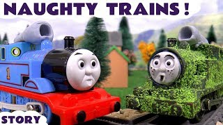 Thomas and Friends naughty Game with Play Doh toys funny kids toy trains Tom Moss toy story
