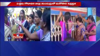 High Tension At Tunduru over Mega Aqua Food Park | West Godavari Dist