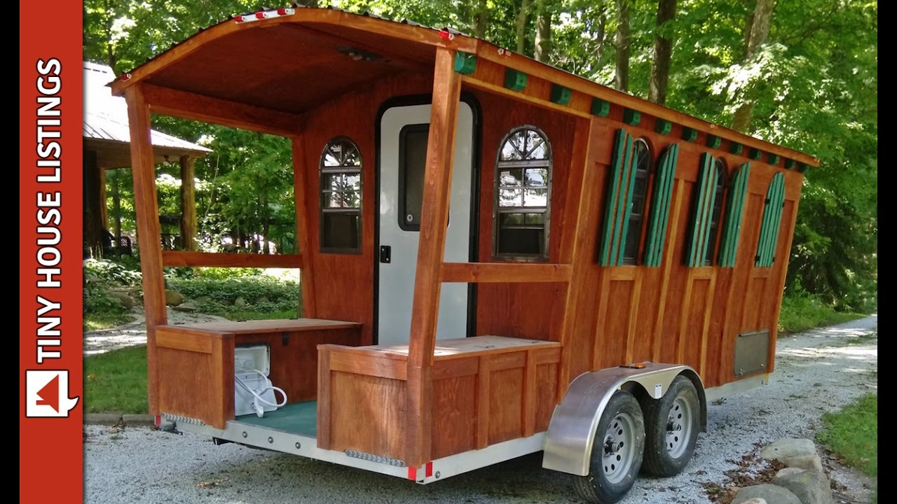 Aluminum Tiny Gypsy House Can Be Pulled By Small SUV