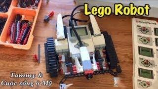 Trẻ Em MỸ TỰ CHẾ LEGO ROBOT, ĂN HAMBURGER McDonald's - Cuộc sống ở MỸ