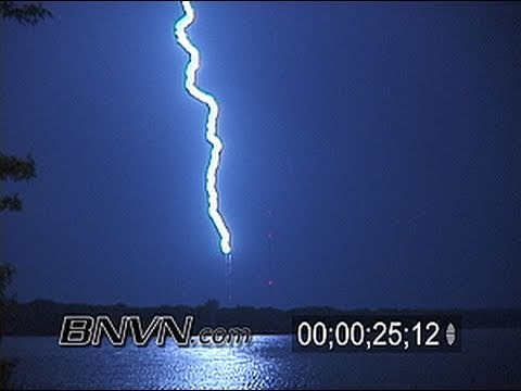 6/24/2003 Lightning strikes the Shoreview MN broadcasting antennas