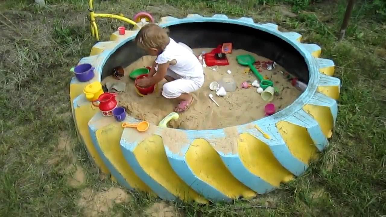 Детский уголок на даче из подручных материалов