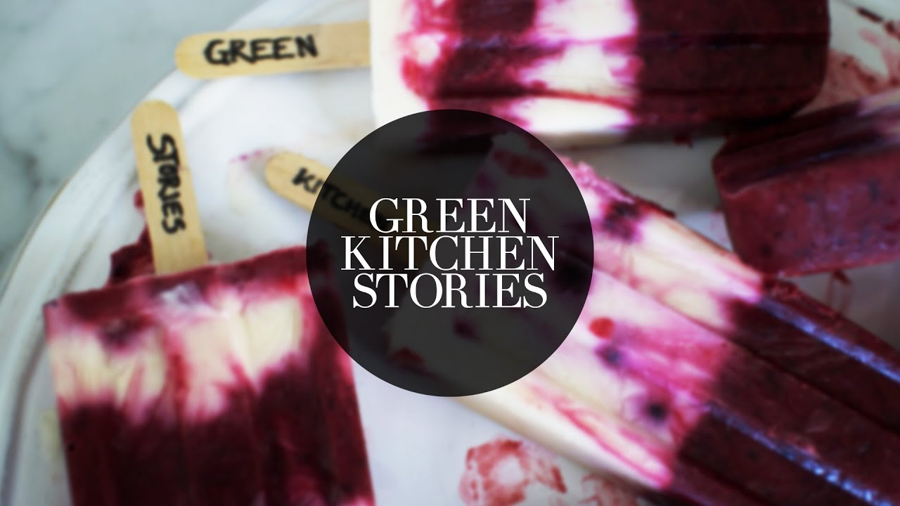 yogurt blueberry popsicles green kitchen stories youtube. Black Bedroom Furniture Sets. Home Design Ideas