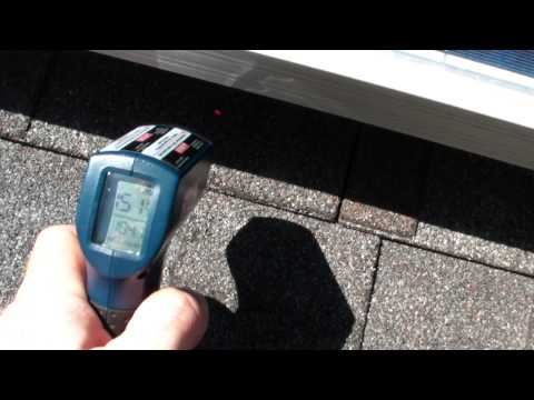 Solar panels shade roof and lower heat gain