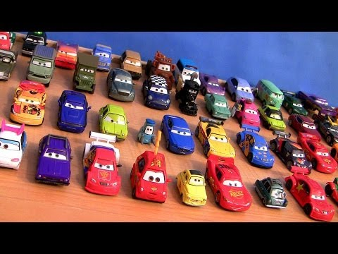 Entire 55 Cars Toys Diecast Singles Collection Cars2 + Ultimate Chase Racers Disney Pixar cartoys