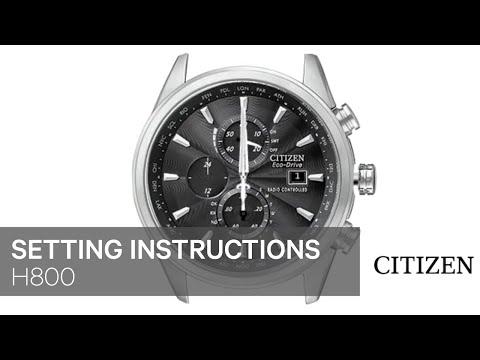 CITIZEN H800 Setting Instruction