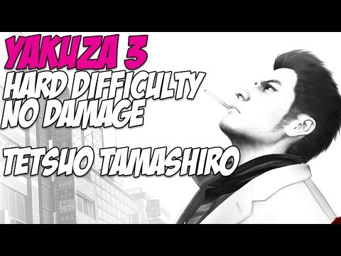 Yakuza 3 Hard Difficulty Bosses  3 Tetsuo Tamashiro  No Damage