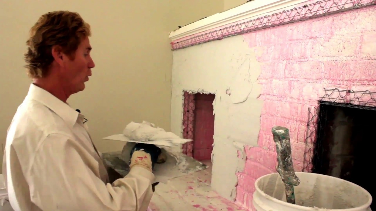 Structo Lite Plaster Over A Brick Or Cinderblock Fireplace