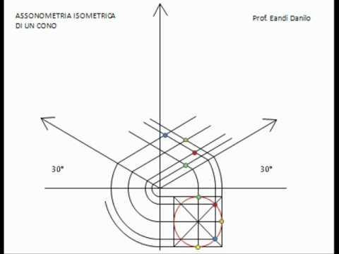 Assonometria isometrica cono youtube for Piani di cabina di base di base