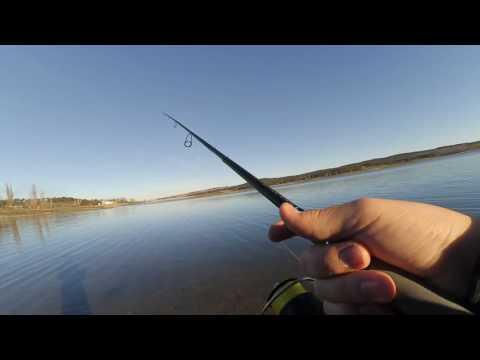 Рыбалка с берега на Симферопольском водохранилище в ноябре