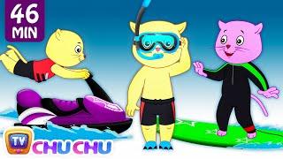 Three Little Kittens Went To The Beach - Nursery Rhymes by Cutians™ | ChuChu TV Kids Songs