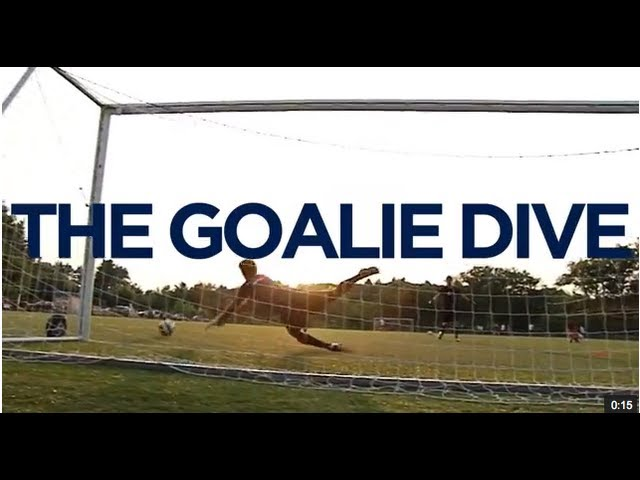 Lacrosse Tips: The Goalie Dive (Slow Motion)